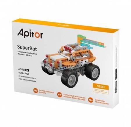 Apitor SuperBot - robot edukacyjny, 18 projektów, ponad 400 elementów, kompatybilny z LEGO